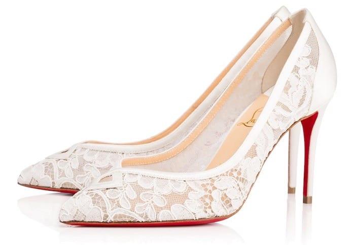christianlouboutin-scarpe sposa in pizzo 2018
