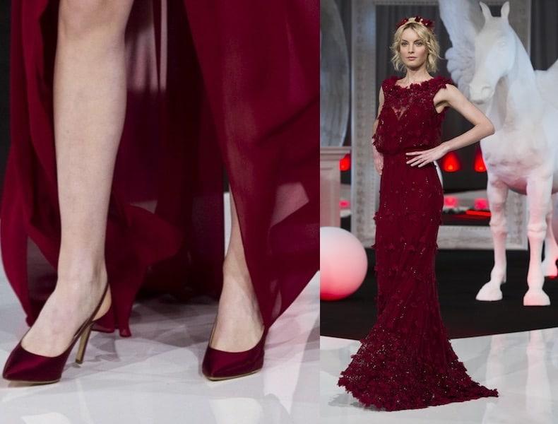 scarpe sposa 2018 rosso scuro Nicole sposa