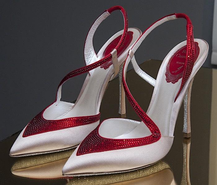 scarpe sposa estate 2018 bianche rosse