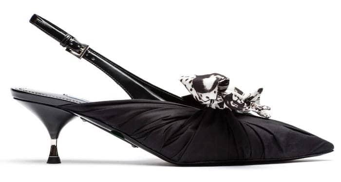 prada- scarpe popeline-vitello-nero