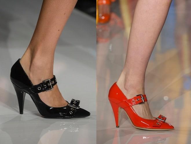 Moschino scarpe moda a Milano inverno 2018-2019