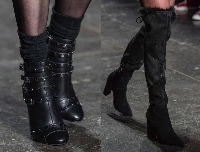 Stivali stivaletti moda neri inverno 2018-2019