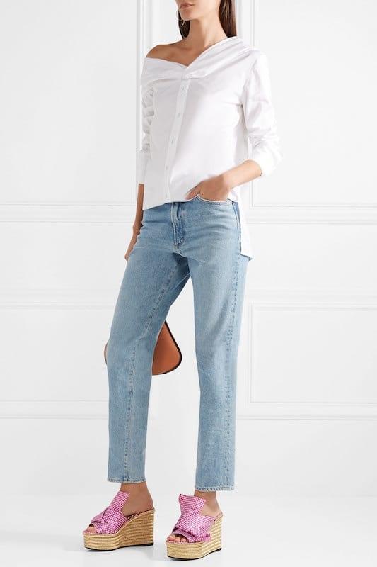 jeans zeppe abbinamenti