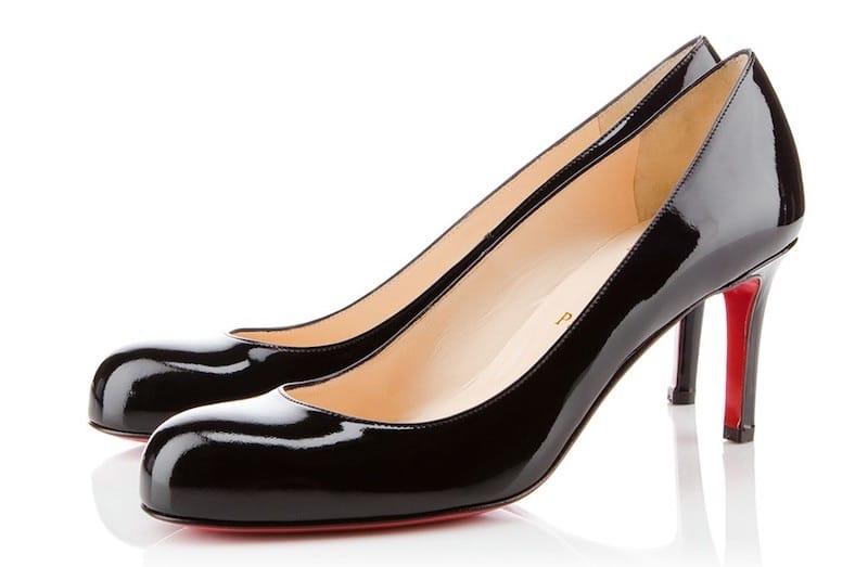 Louboutin scarpe nere suola rossa autuno inverno 2018-2019