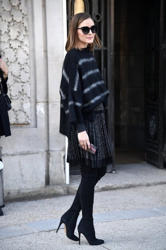 Olivia Palermo stivali alti parigi street style