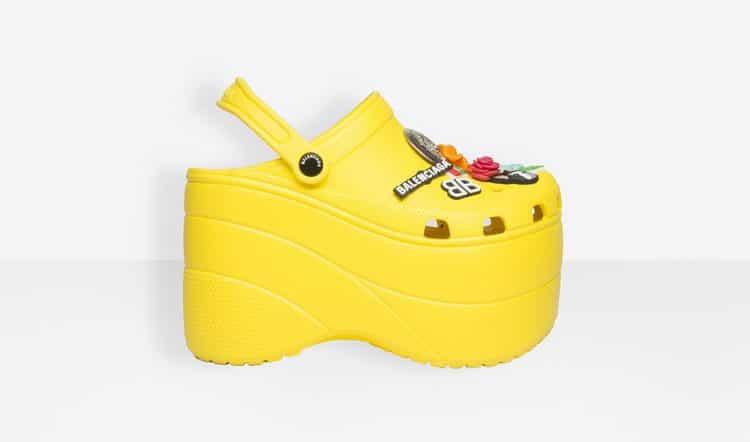 balenciaga zeppa gialla