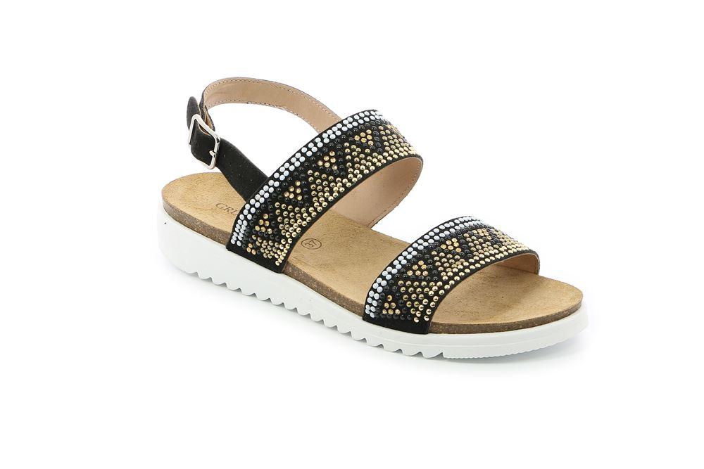 grunland scarpe 018 sandalo-donna-sintetico-nero-40-gradi