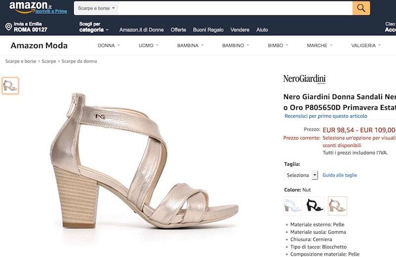Nero Giardini sandali donna estate 2018