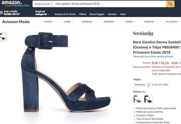 nero Giardini sandali donna 2018 shop online