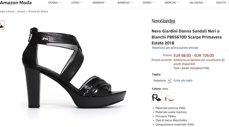 """Collezione scarpe donna """"pelle"""": prezzi, sconti e offerte"""