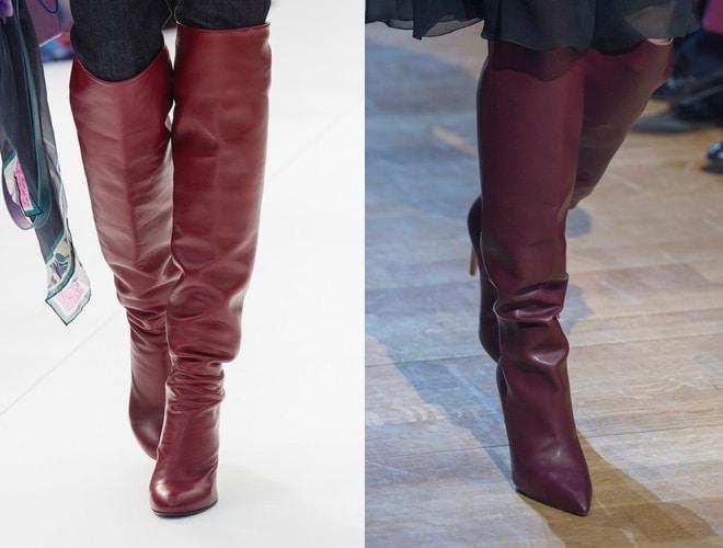 Stivali sopra al ginocchio bordeaux 2019