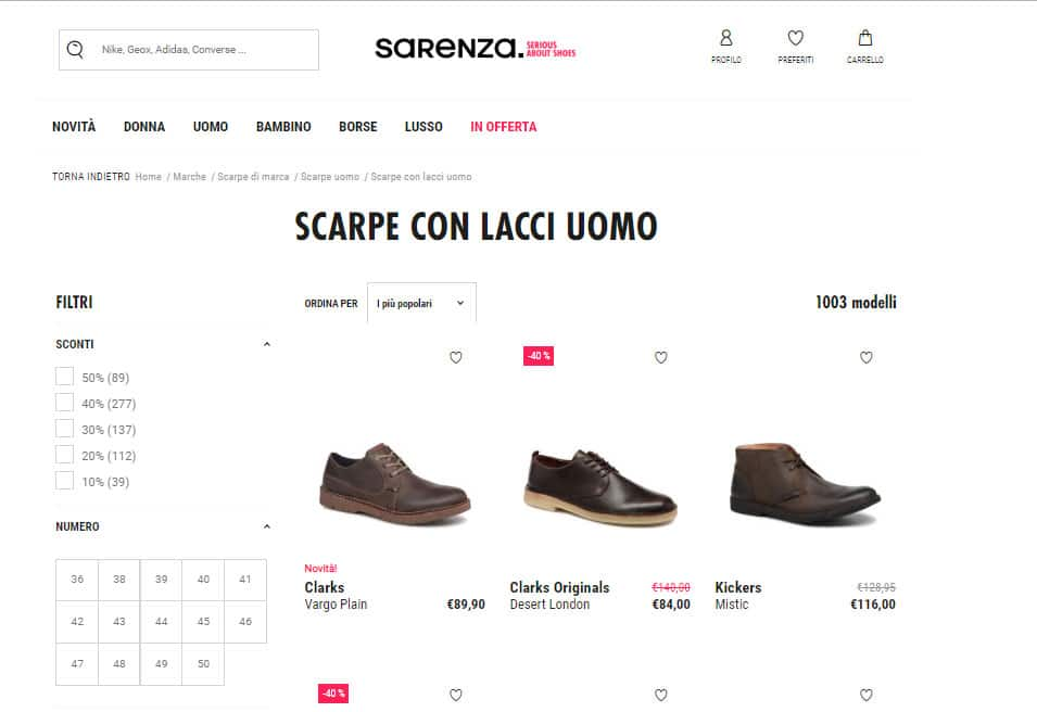 sarenza-negozio-online