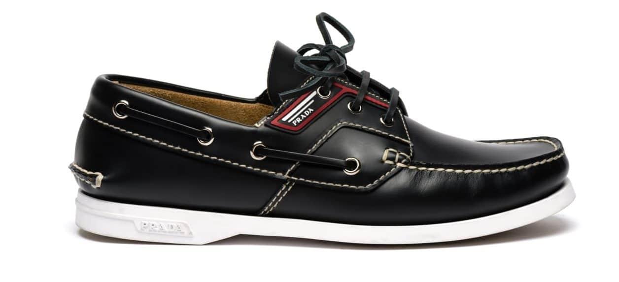 scarpa da barca uomo prada 2019
