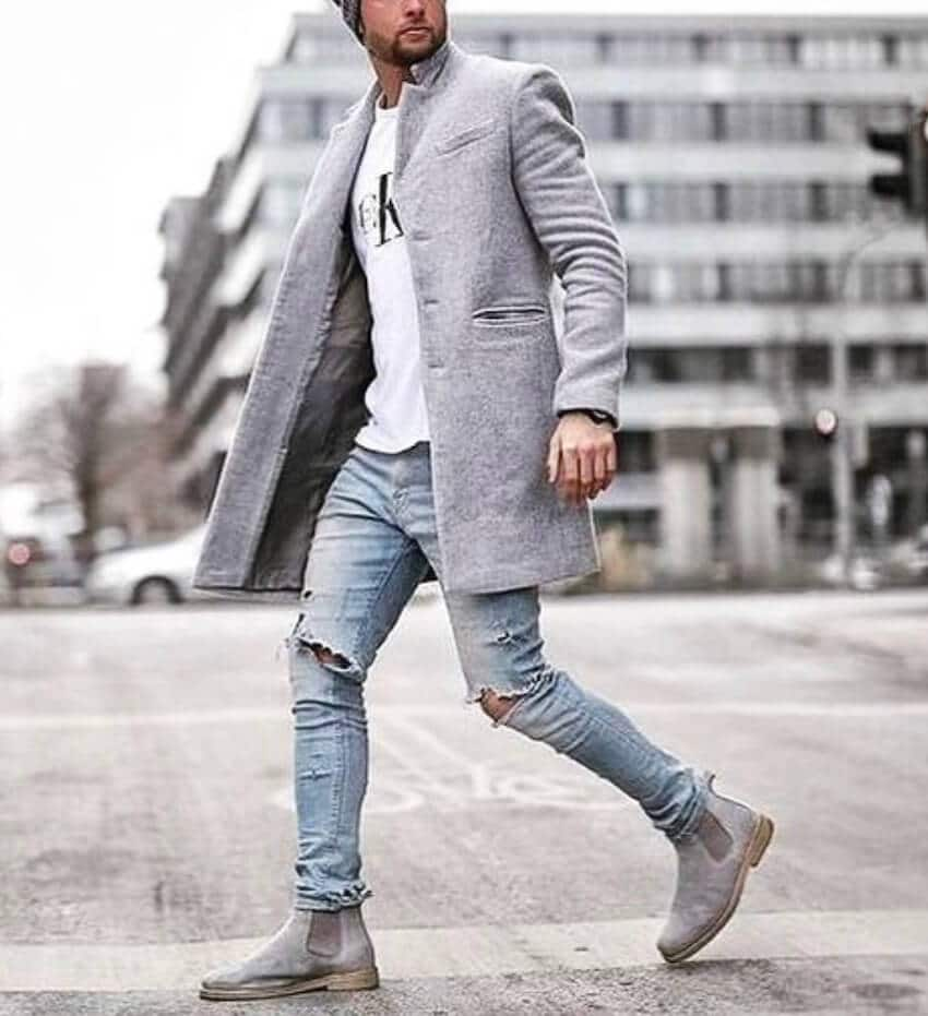 stivaletti jeans abbinamenti uomo street style 2018