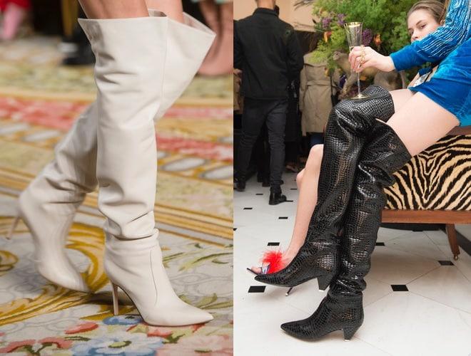 stivali sopra il ginocchio in pelle inverno 2019