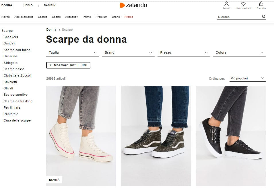 zalando negozio di scarpe online