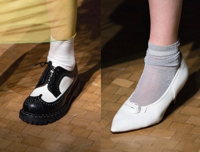 sfilate londra scarpe moda inverno 2019 2020