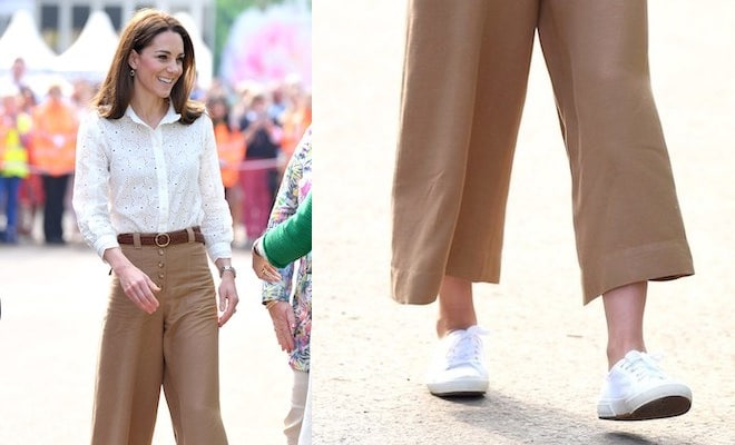 Kate Middleton superga bianche